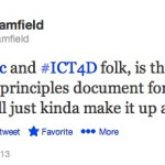 What Are Best Practices in ICT4D? Tweet Your Answers to #ICT4Real Today!