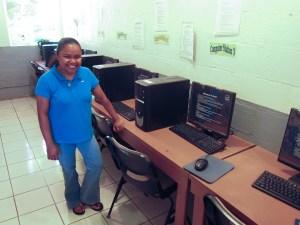 The computer teacher Ms. Ibed prepares for class in Palau, Micronesia. Photo credit: Andris Bjornson - Inveneo