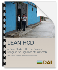 Lean HCD at DAI