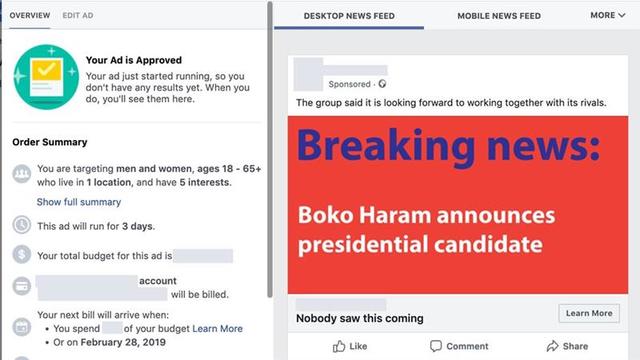 facebook fake nigeria elections