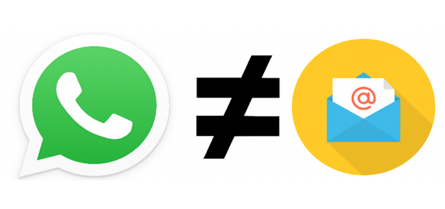 whatsapp not email