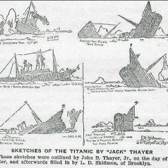 Titanic Class Diagram 1993 Chevrolet Pickup Wiring Demographics Of The Passengers Jack Thayer S Sketch Sinking