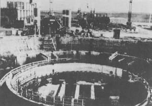 The Nuclear Reactor Under Construction.