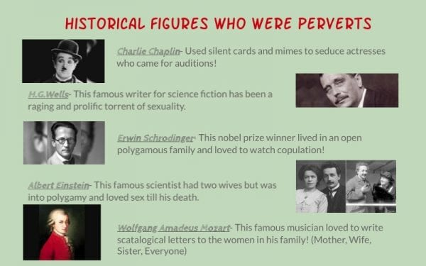 Historical figures who were perverts