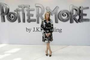 British author J.K. Rowling poses for photographers as she announces her new website project Pottermore at the Victoria and Albert Museum in London, Thursday, June 23, 2011. For the Pottermore project Rowling has written new material about the characters, places and objects in the Harry Potter stories. (AP Photo/Akira Suemori)