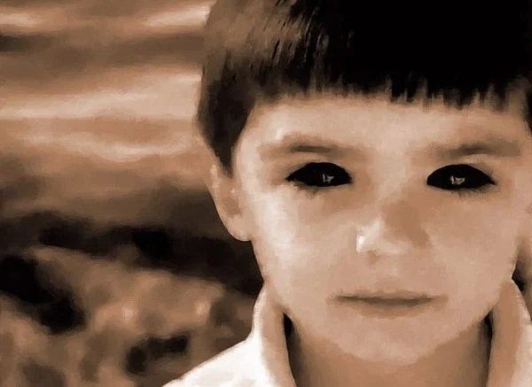 Image result for scary child