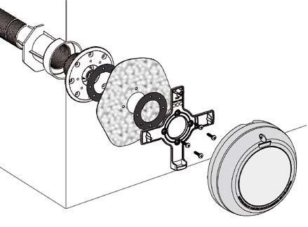 projecteur astral piscine liner a fixer sur buse d aspiration
