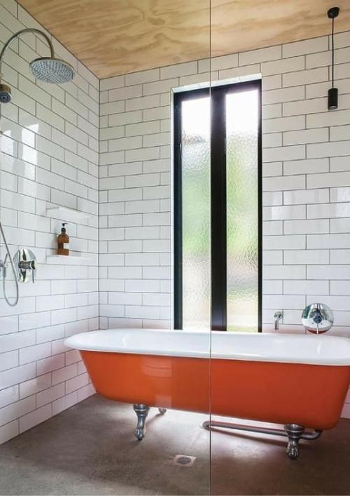 best vasca da bagno in ceramica smaltata arancione with bagno arancione