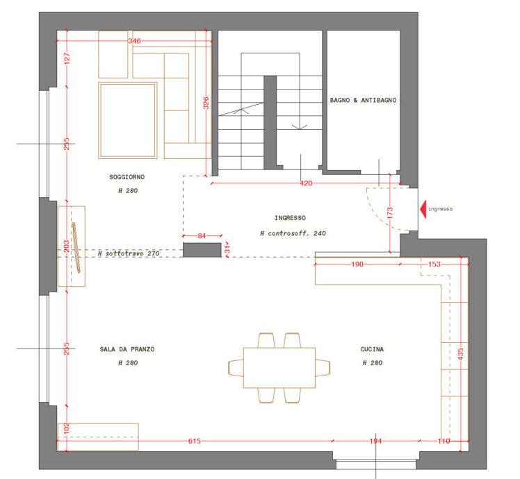 Cucina e soggiorno open space come organizzare lambiente