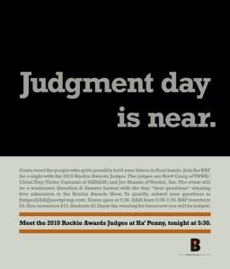 BAF Meet the Judges - Final Reminder