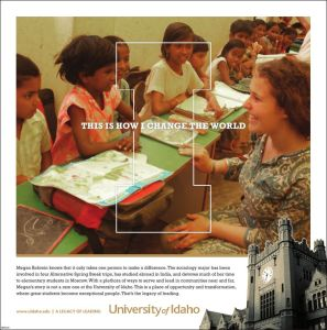 University of Idaho - Change the World
