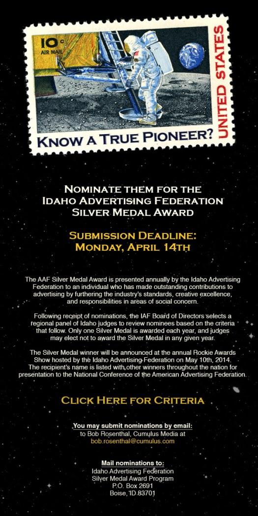 2014 IAF Silver Medal Award