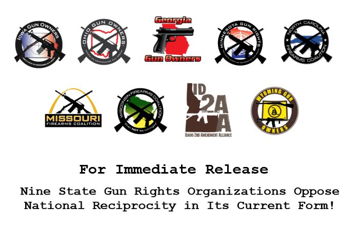 Press Release: Pro-Gun Groups Opposed To HR 38 WIth Embedded Gun-Control