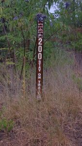 Trail 200 - Trail-head Sign | Hiking Spanish Town Idaho