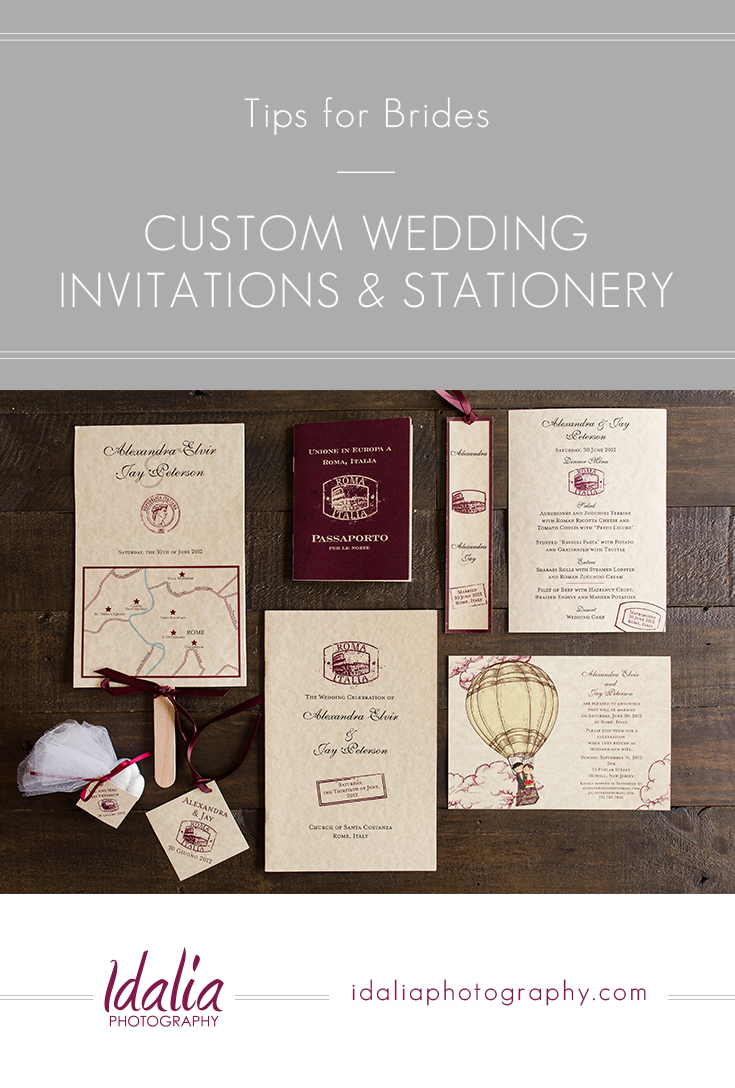 Custom Wedding Invitations And Stationery Nj Photographers