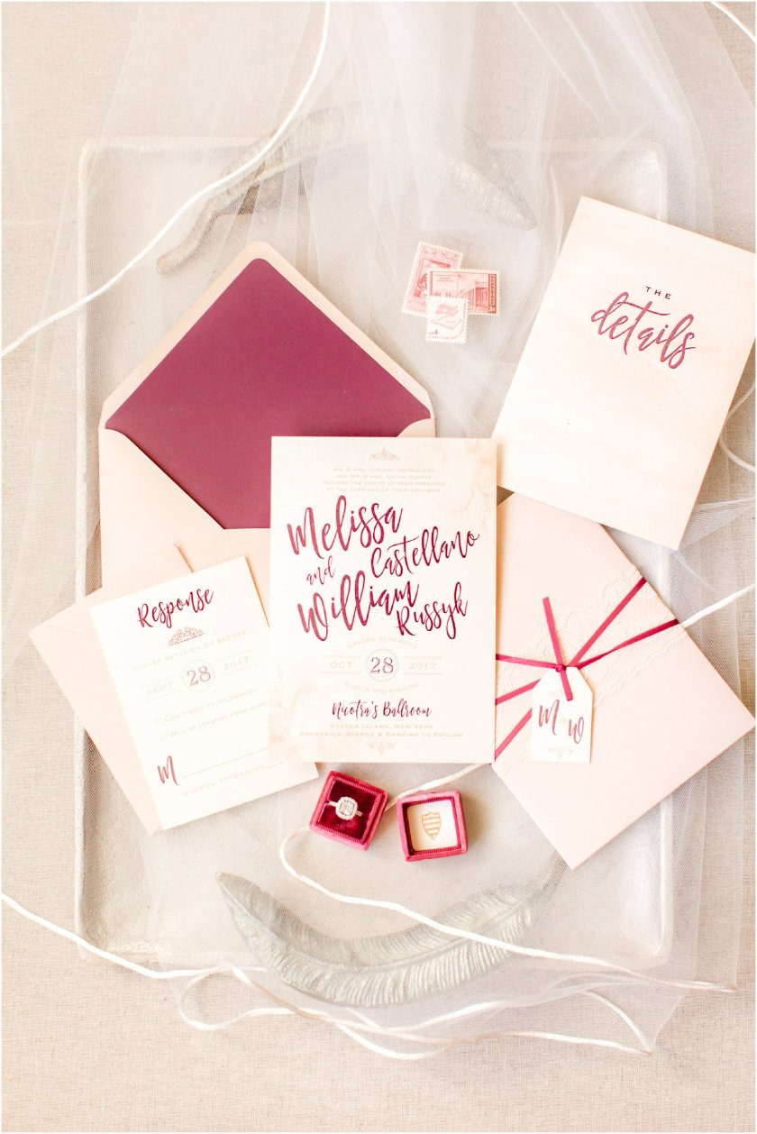 Blush And Burgundy Invitation By Art Paper Scissors Bridal Portrait On Wedding