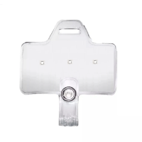 Horizontal Clear Service & Award Pin Strap Clip Adapter w/ Slot, No clip