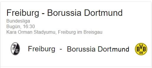 9 Eylül 2017 freiburg - Broussia Dortmund Almanya Bundesliga 1 iddaa oran analizi ve tahmini