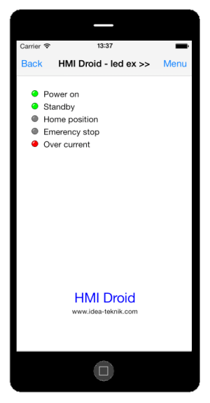 HMI Droid manual på svenska