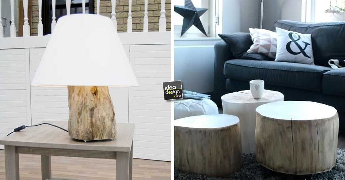 Tronco design Quando un tronco diventa design 30 idee
