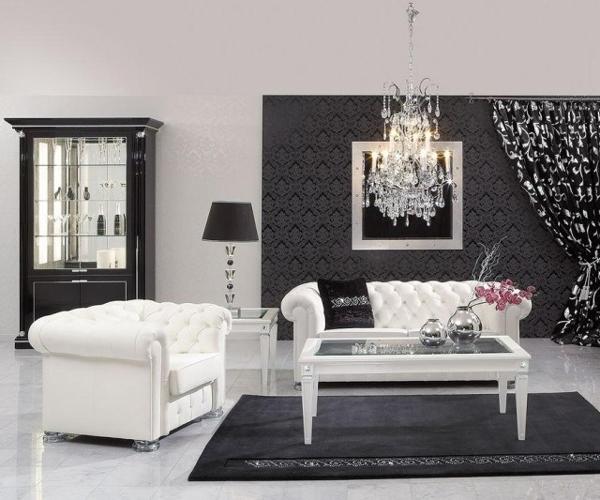 Salone Stile Barocco Bianco e neroguarda queste 9 foto