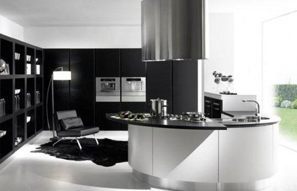 Idea design cucina bianca e nero le foto