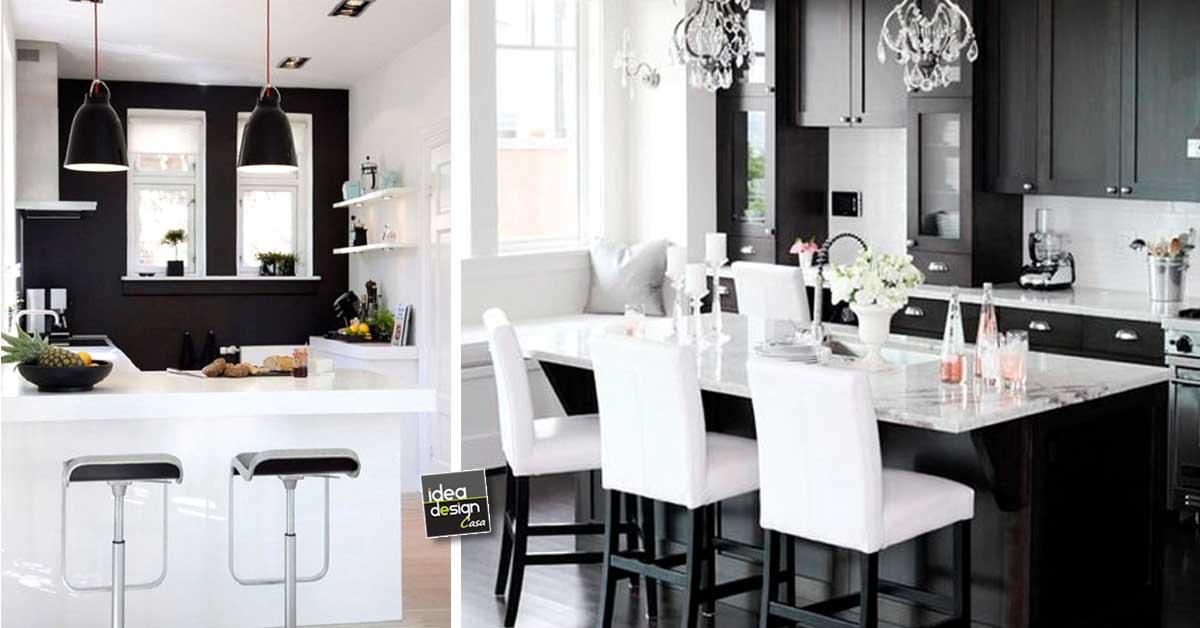 Quale colore scegliere per dipingere pareti cucina consigli tinteggiare pareti cucina moderna classica in legno bianca gamma dei colori accostamenti foto. Idea Design Cucina Bianca E Nero Le Foto