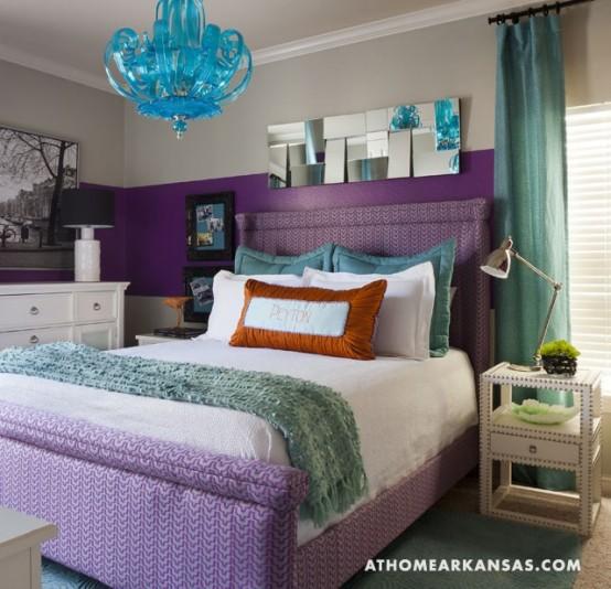 Arredare la camera da letto con il viola 51 idee