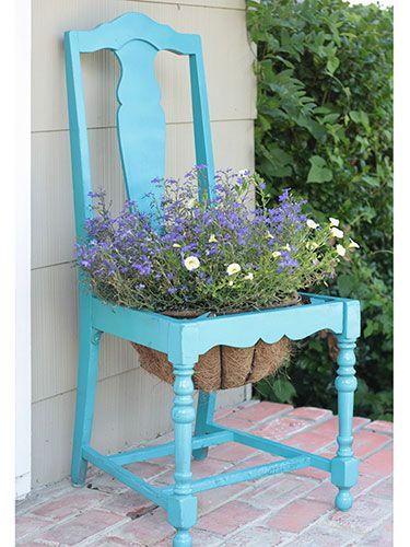 Vecchia sedia fiorita 20 idee a cui ispirarsi