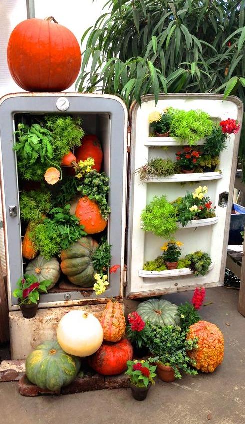 Riciclo creativo vecchio frigorifero 20 idee a cui