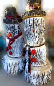 Decorazioni natalizie con tronchi e rami 20 idee creative