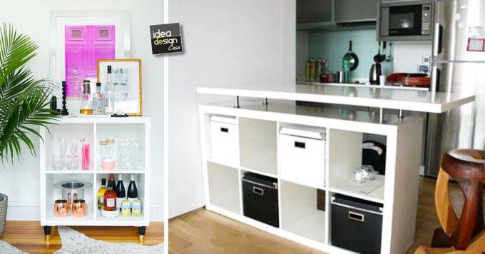 Usare gli scaffali IKEA in modo originale 30 idee