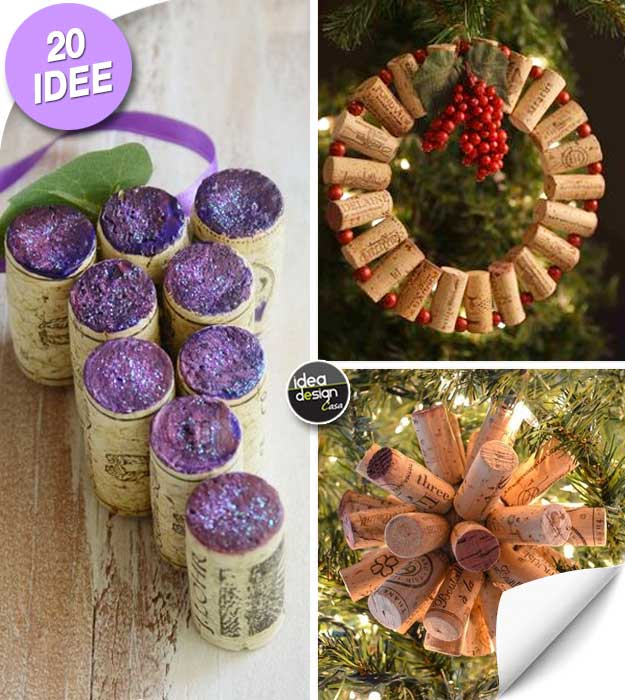 Decorare lalbero di Natale con i tappi di sughero Ecco 20 idee  Tutorial