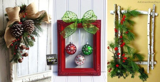 decorazioni natalizie per porta o parete. Decorare La Porta D Ingresso A Natale Ecco 15 Idee Per Ispirarvi