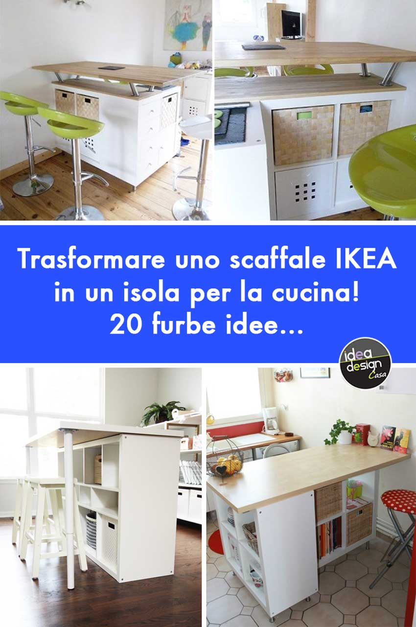 IKEA Cucine Trasformare uno scaffale IKEA in un isola per
