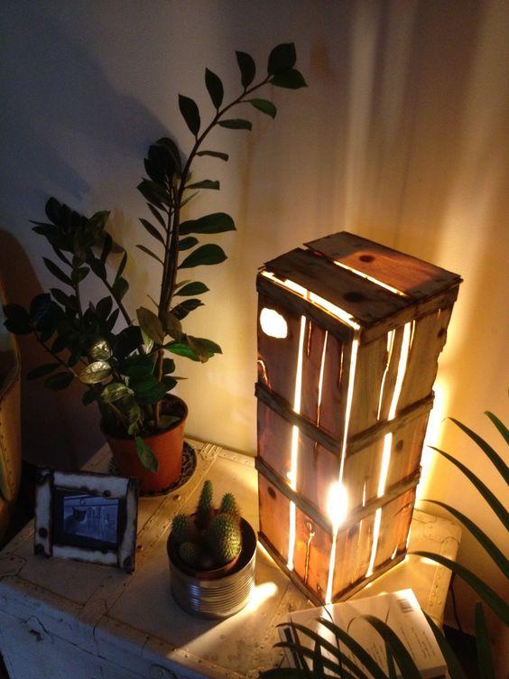 Lampade creative con cassette di legno 17 idee