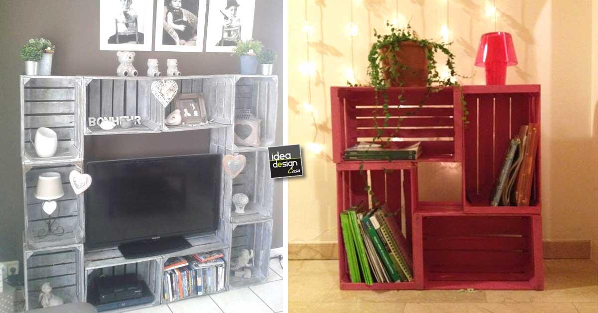 Le cassette di legno per arredare casa 20 idee creative