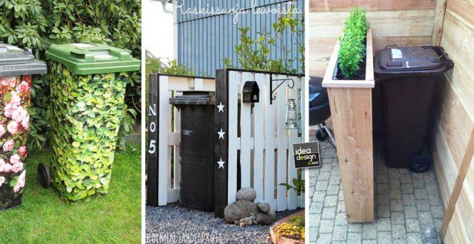 Sistemare i bidoni della spazzatura in giardino 20 idee
