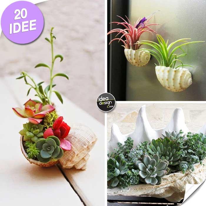 Creare una fioriera con le conchiglie Ecco 20 idee stupende per ispirarvi