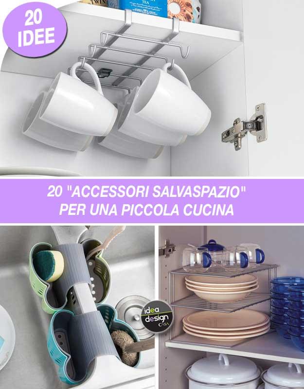 Accessori salvaspazio per una piccola cucina Ecco 20 idee