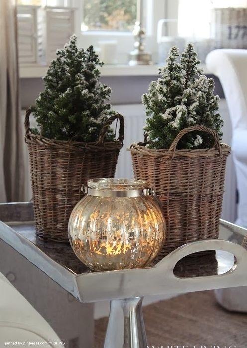 Abbellire casa con un cesto a Natale Ecco 15 idee per