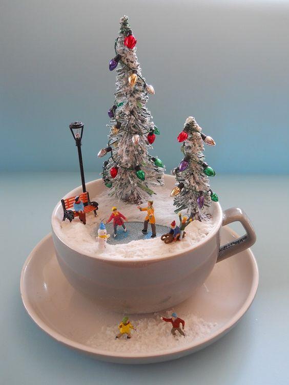 Decorazioni natalizie in un tazza 15 idee originali per ispirarvi