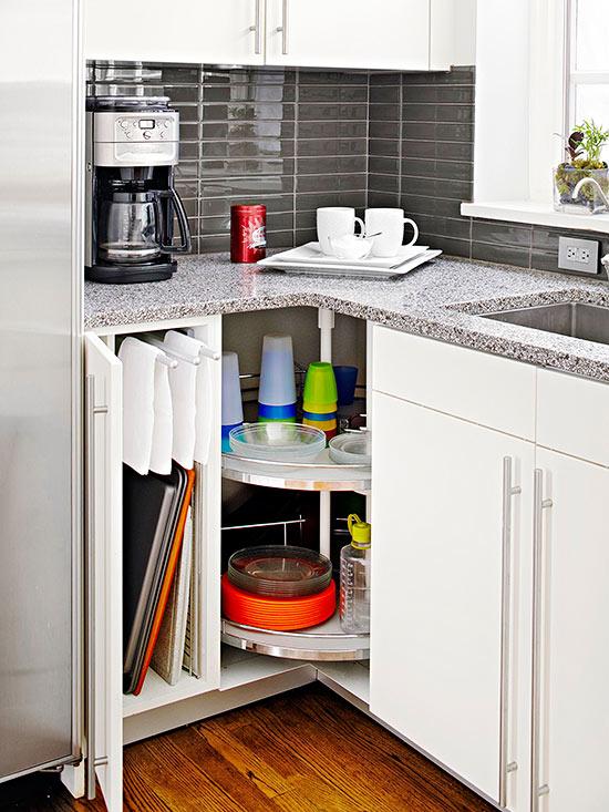 Sfruttare gli angoli in una piccola cucina 20 idee da cui