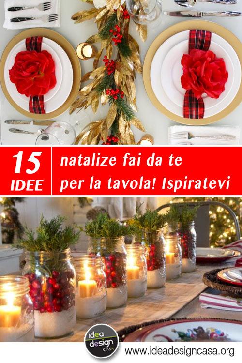 Addobbi natalizi fai da te per la tavola 15 idee per