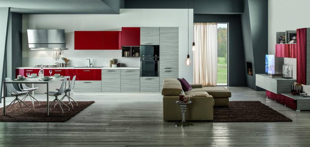 Cucina rossa e grigia 15 idee accattivanti che vi ispireranno