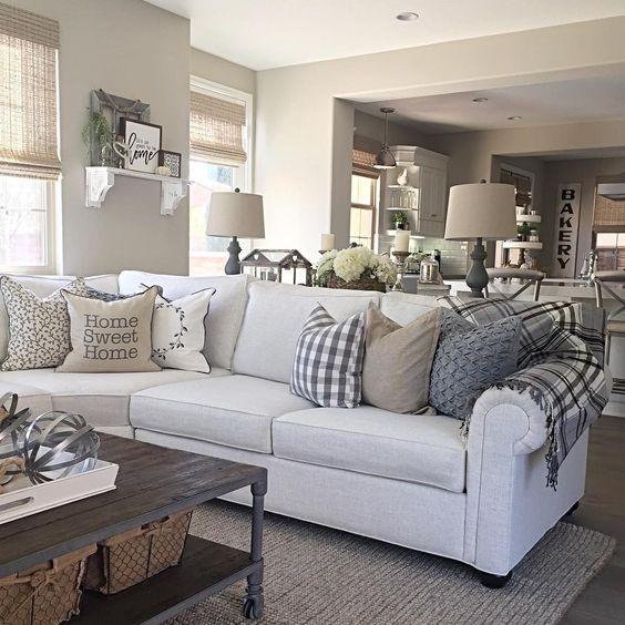 mini sectional leather sofa designer sofas for sale soggiorno grigio e beige: ecco come abbinarlo! 15 esempi a ...