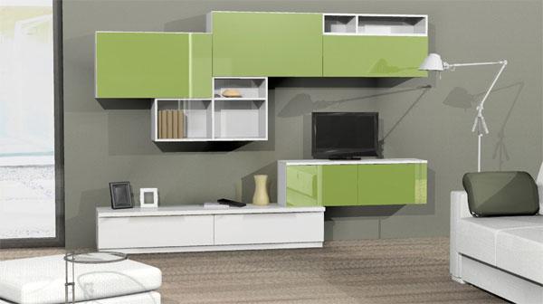 Soggiorno grigio e verde Ecco 15 esempi per farvi un idea