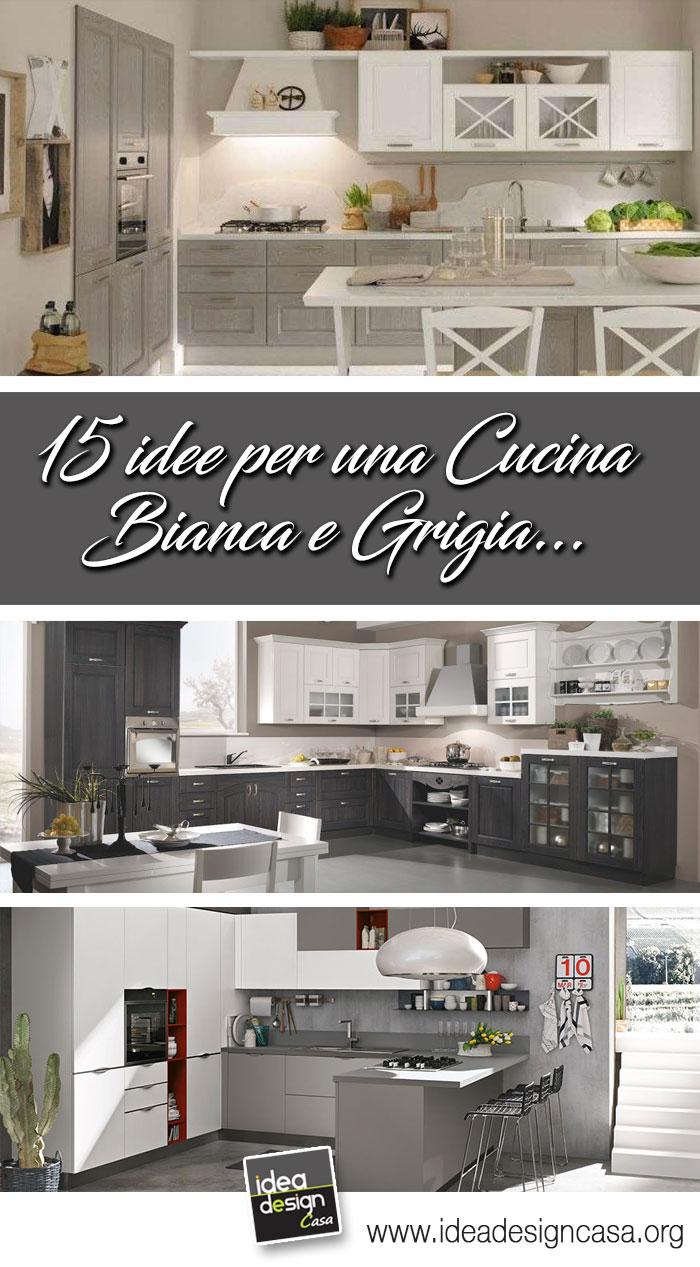 Cucina bianca e grigia Ispiratevi con questi 15 esempi Buona visione