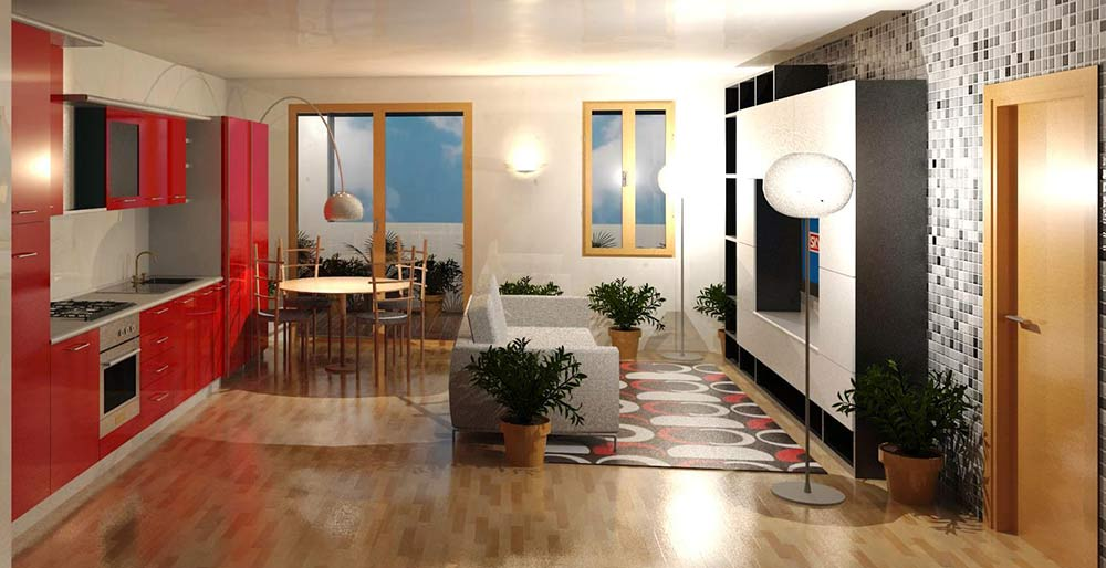 Il soggiorno con cucina a vista 15 proposte da cui trarre ispirazione
