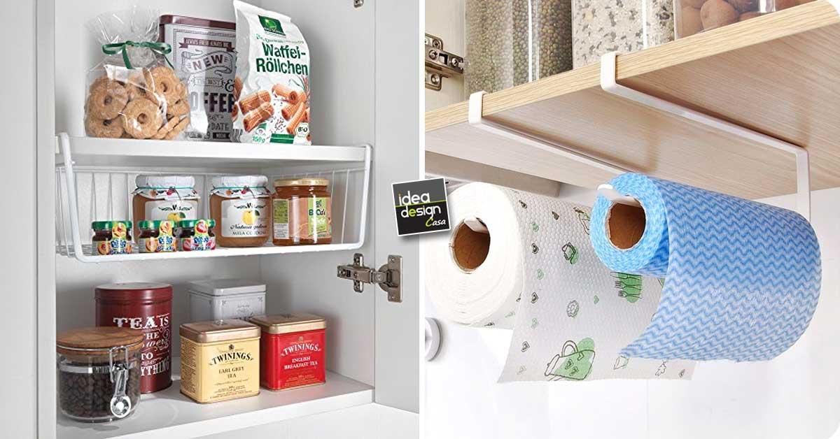 Accessori per organizzare i mobili in cucina 15 idee da